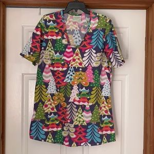 Lolly Wolly Doodle Christmas top made in US Cotton